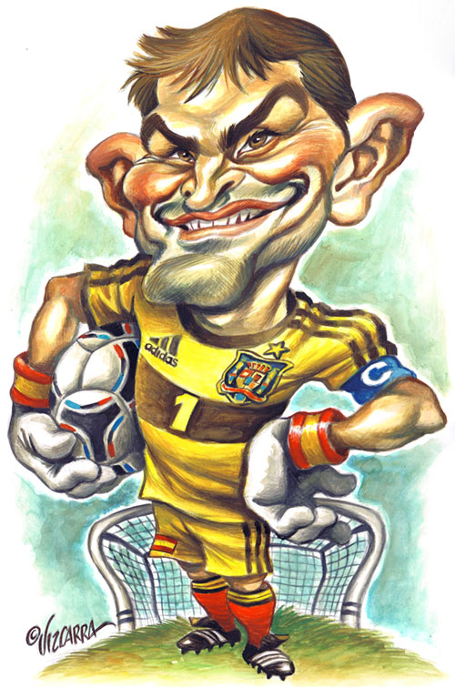 "Caricatura de ""Iker Casillas"" por Joan Vizcarra"