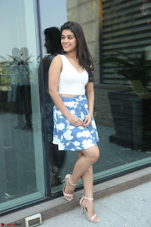 Yamini in Short Mini Skirt and Crop Sleeveless White Top 032.JPG