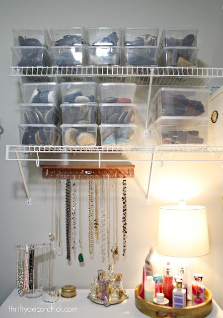 Lamp in a master closet