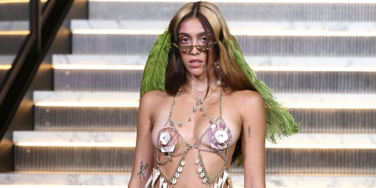 Lourdes Leon walks her first Fashion Week in barely-there shell bra