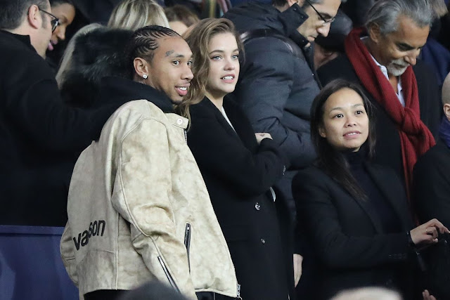 Barbara Palvin at Football match of PSG vs Nantes in Paris