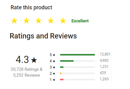 Calculate 5 star rating