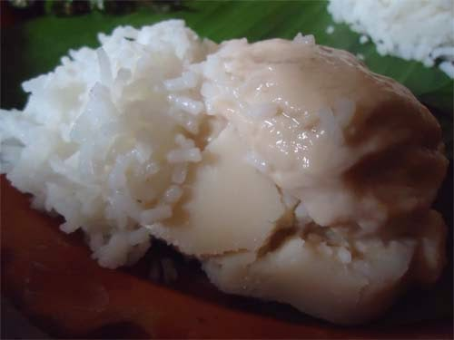 দৈ ভাত - Sweet curd with rice