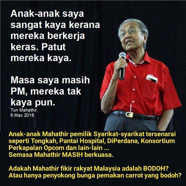 Mahathir menipu mengenai kekayaan keluarga beliau!