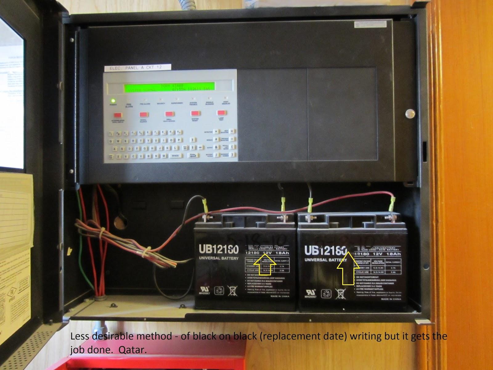 Fire Protection Deficiencies: Batteries (Diesel Fire Pump