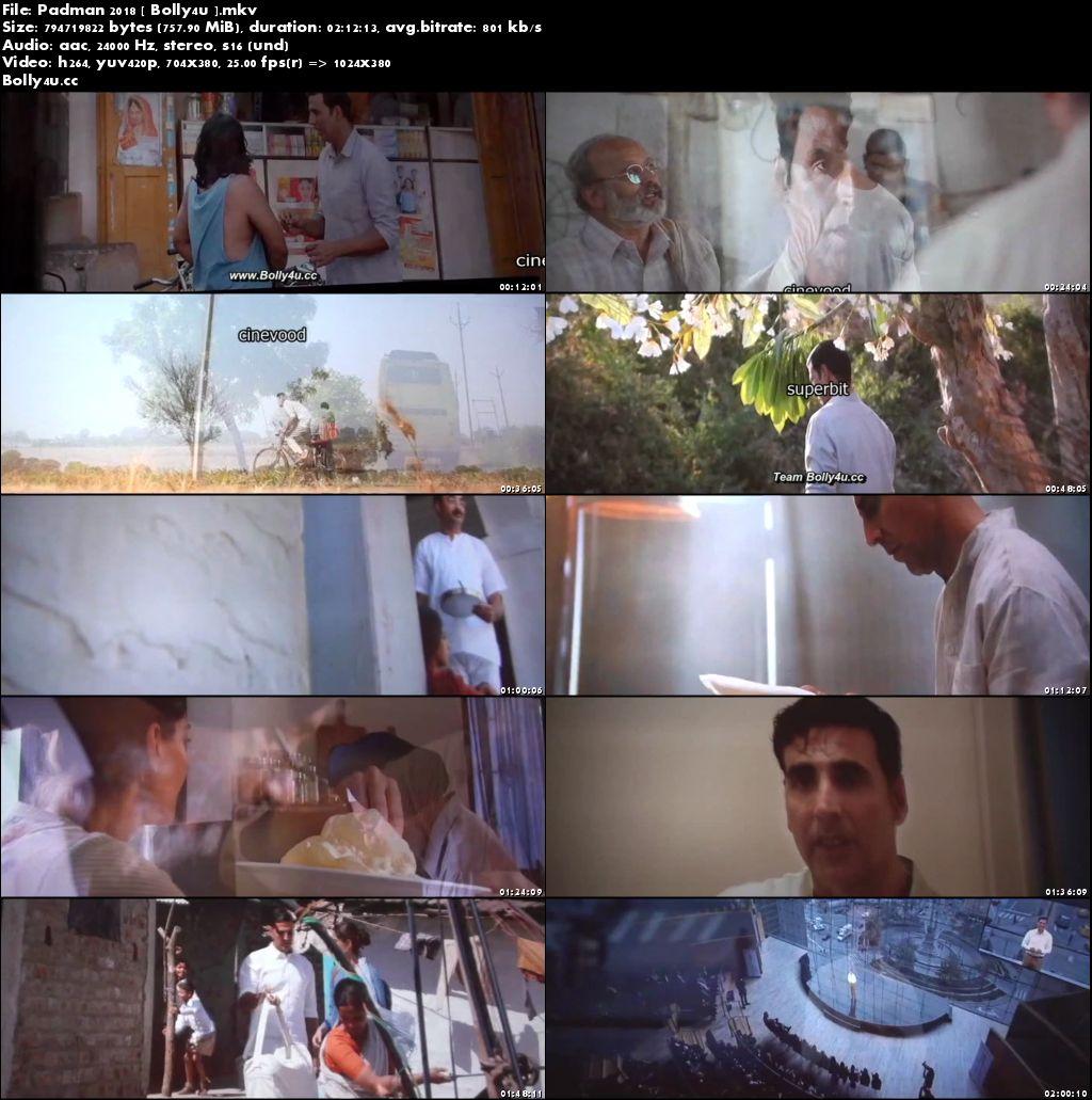 Padman 2018 Pre DVDRip 700Mb Full Hindi Movie Movie Download x264