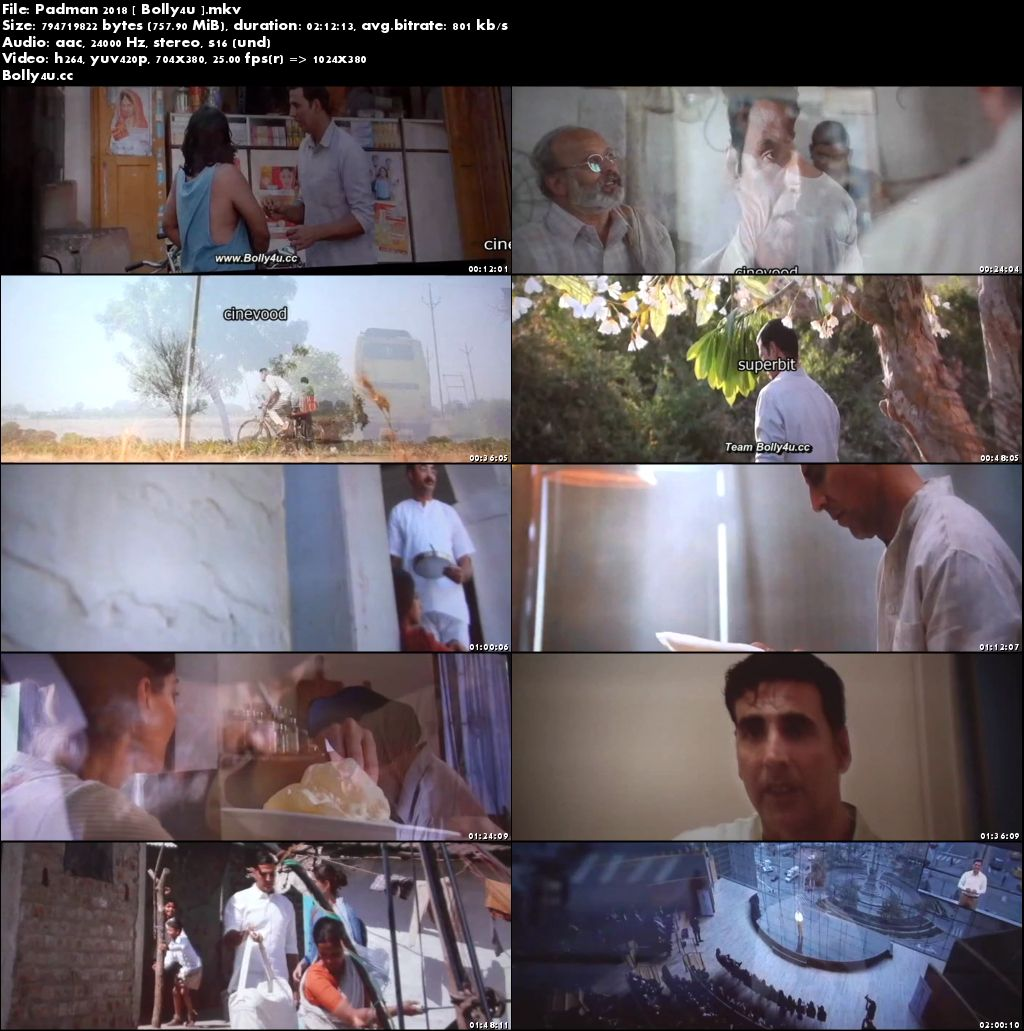 Padman 2018 Pre DVDRip 700Mb Full Hindi Movie Movie Download x264