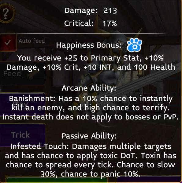 samael stats in Arcane legends