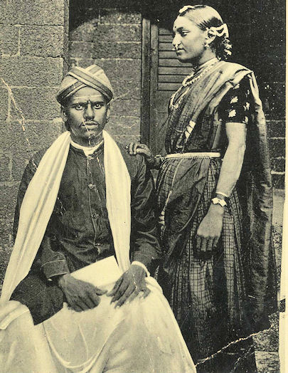 Vintage Photograph of a Telugu Couple