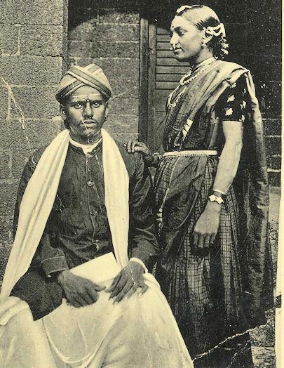 Vintage Photograph of a Telugu Couple