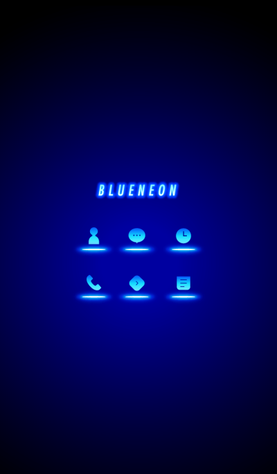 Blue Neon Icon.