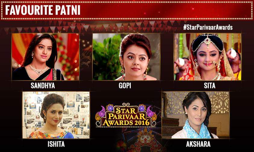 Star Parivaar Awards 2016' on Star Plus Show Nominee,Host,Program