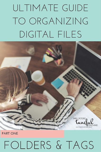 A 3-part series for teachers (or anyone with lots of digital files) about organizing all your digital files. Part 1 has suggestions and tutorials on creating folders to sort files in an easy-to-find way. SUPER helpful and organized!