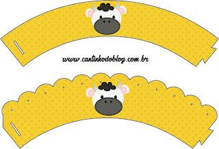 Wrappers para Cupcake para Imprimir Gratis de Vaquitas.
