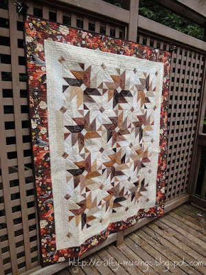 Fall 2013 Mystery Quilt, side front view
