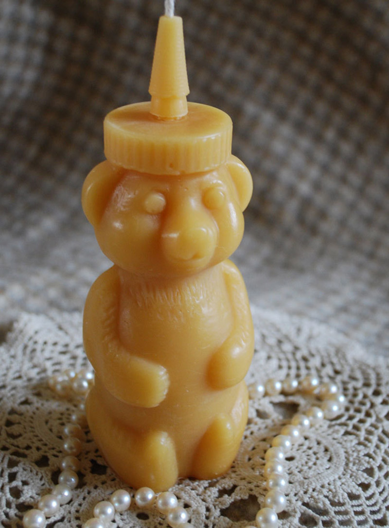 Beeswax Honeybear Candle by PeaceBlossomCandles