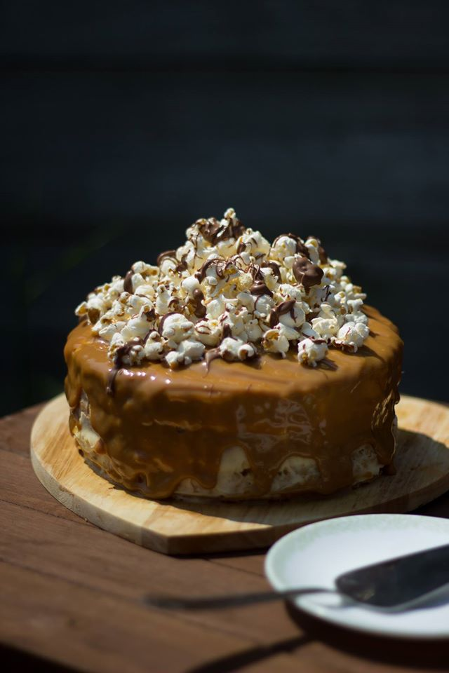 salted, caramel, popcorn, cake, food, blog, blogger, uk, locally, sourced, east, of, england, coop, recipes, baking,