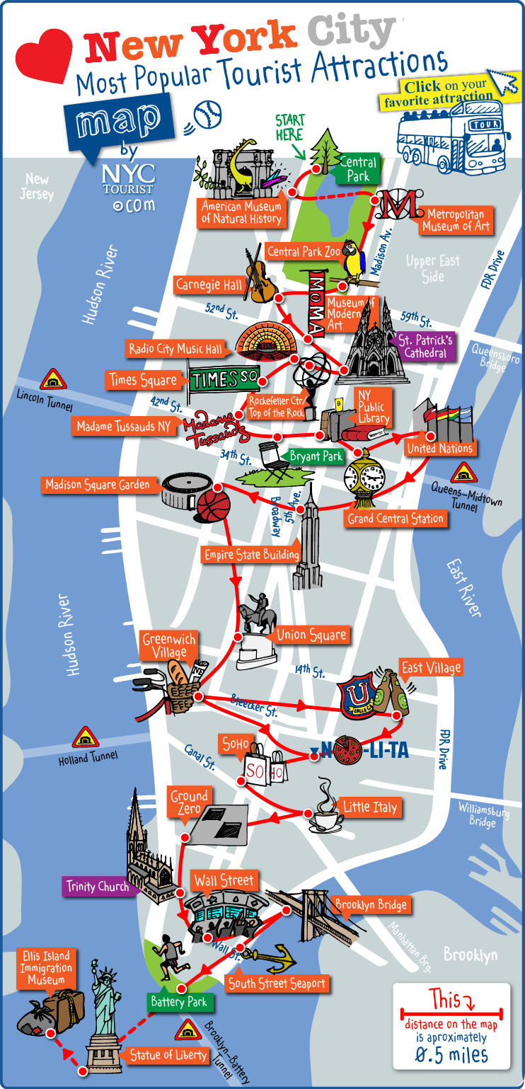 Carte des Monuments à New York