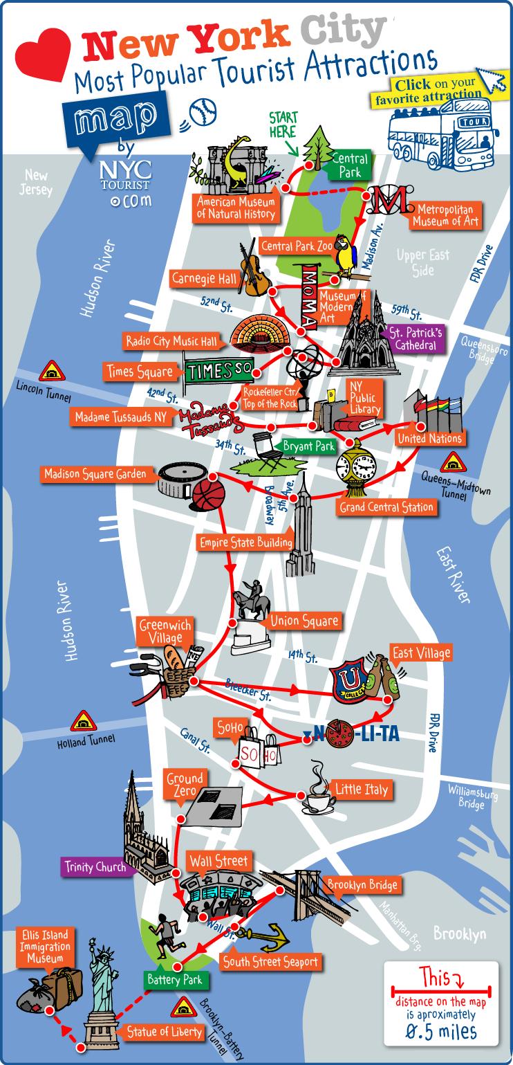 Carte des Monuments à New York