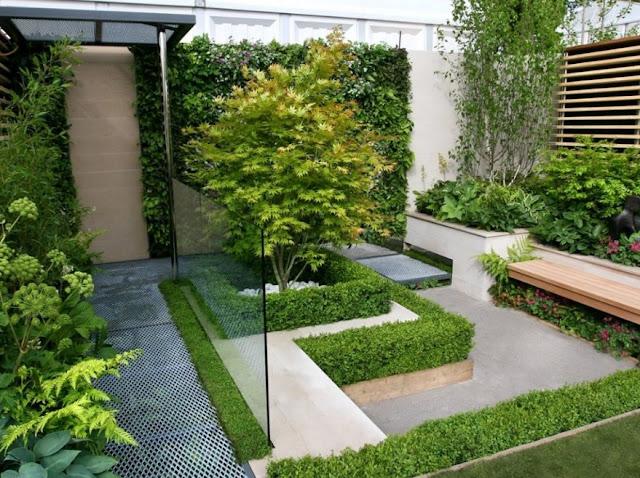 desain taman minimalis lahan sempit