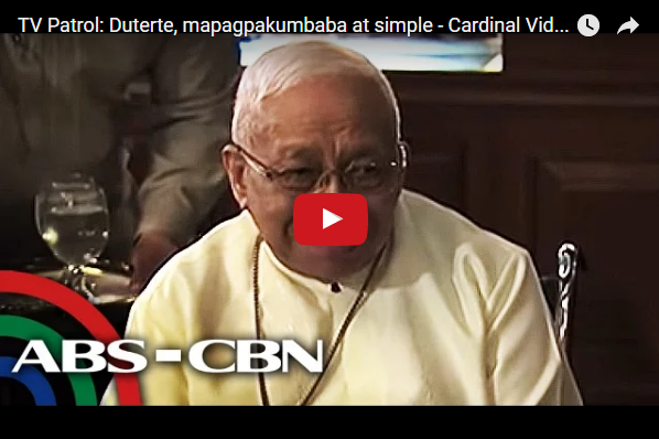Pres. Duterte, mapagpakumbaba at simple - Cardinal Vidal