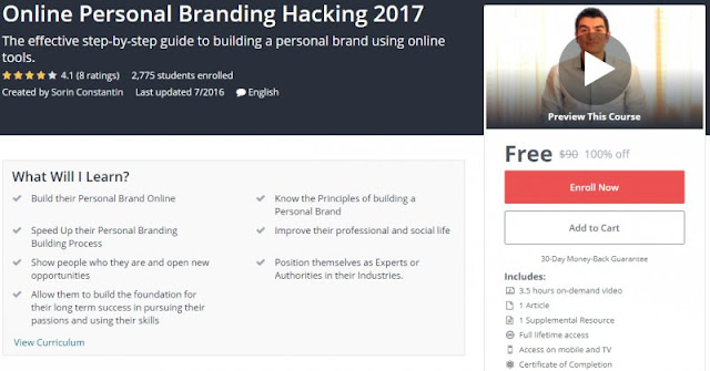 [100% Off] Online Personal Branding Hacking 2017| Worth 90$