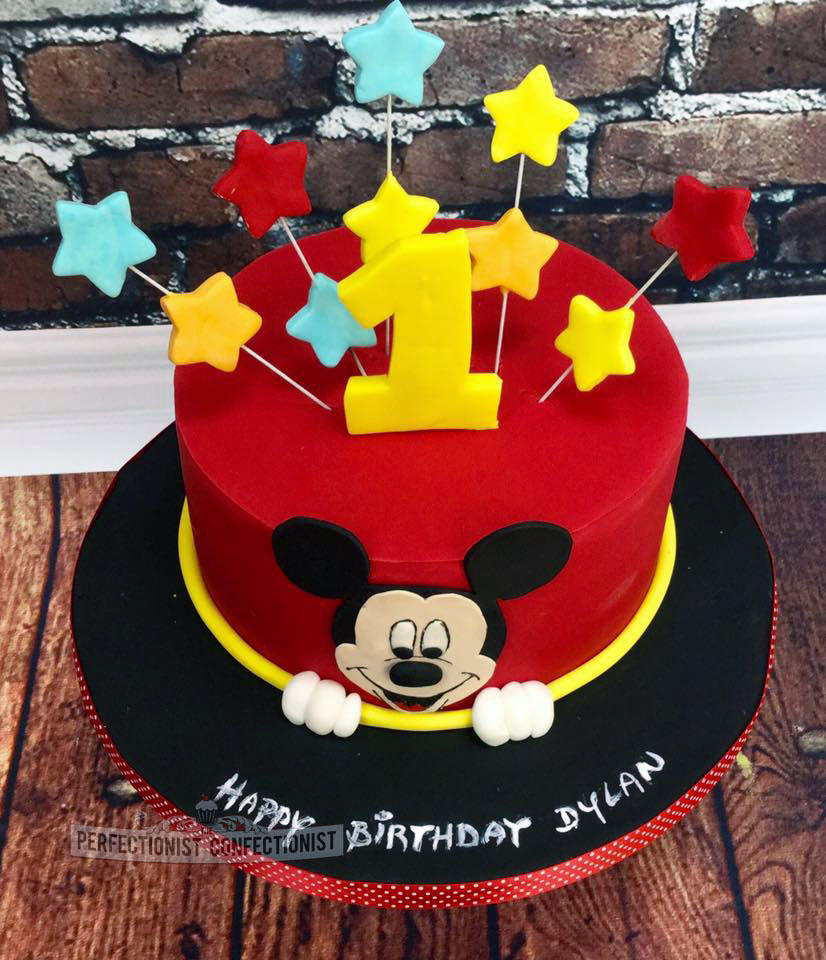 Mickey Mouse 1st Birthday Cake: The Perfectionist Confectionist: Dylan