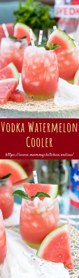 Vodka Watermelon Cooler #cocktail #recipe