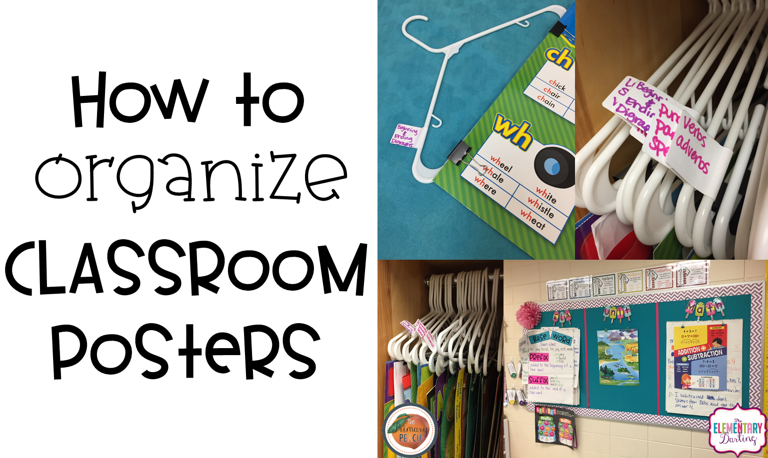 The Primary Peach: How to Organize your Classroom Posters