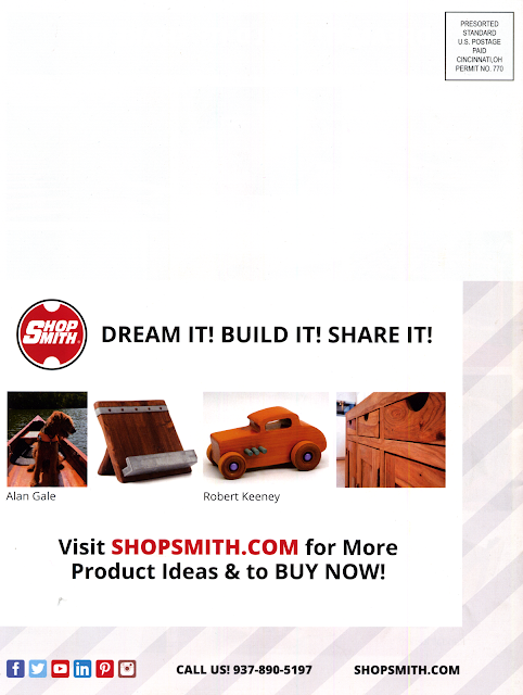 Shopsmith Catalog Back Page