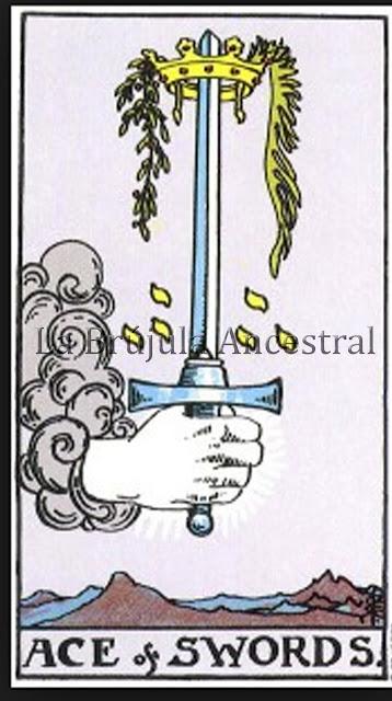 Arcanos Menores, As de Espadas Tarot de Rider Waite
