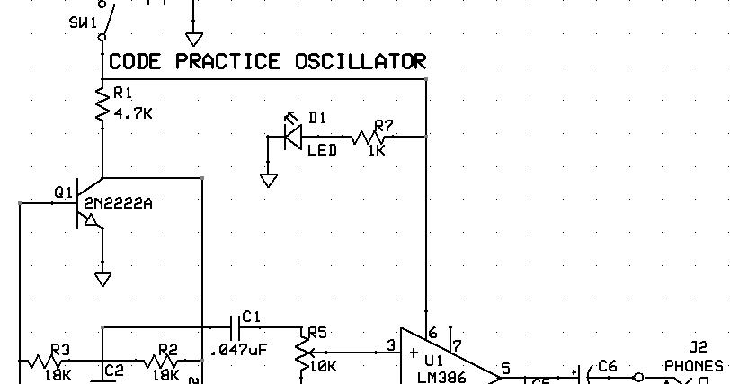N5JLD: CW Code Oscillator