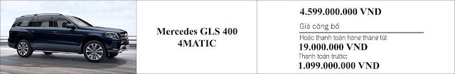 Giá xe Mercedes GLS 400 4MATIC 2019 tại Mercedes Trường Chinh