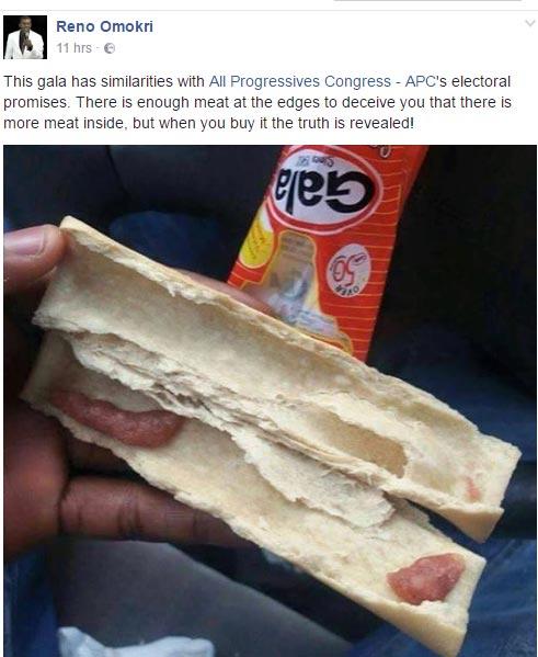 No chill! Reno Omokri compares APC with gala