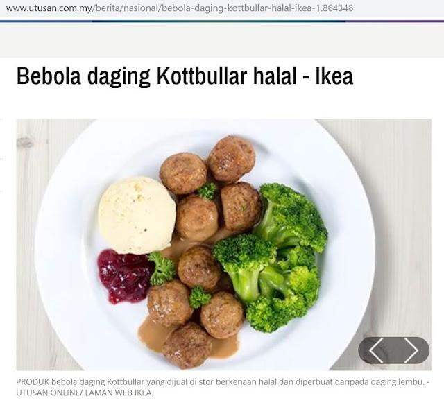 Status Halal Meatball Kottbullar IKEA Batu Kawan