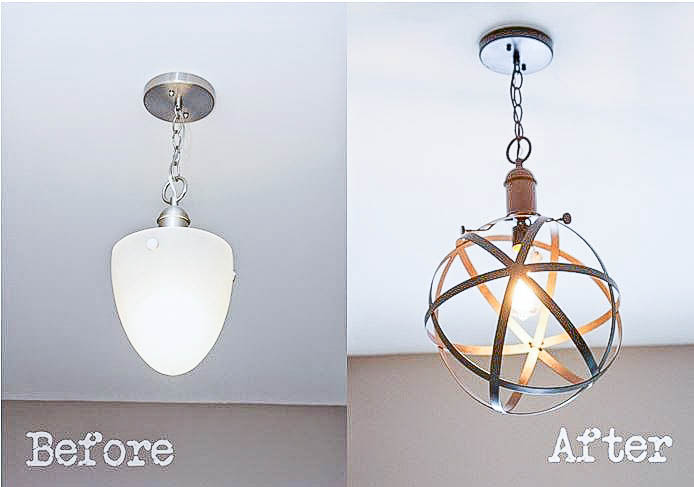 5 DIY Industrial Light Fixtures for Under $25 - Bless\'er House