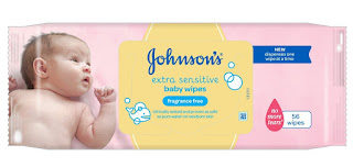 only £8 For Johnson's Baby Extra Sensitive Fragrance Free Wipes 12 Pack – Alcohol soap free