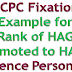 7th CPC Fixation of Pay- Example for the Rank of HAG Promoted to HAG+