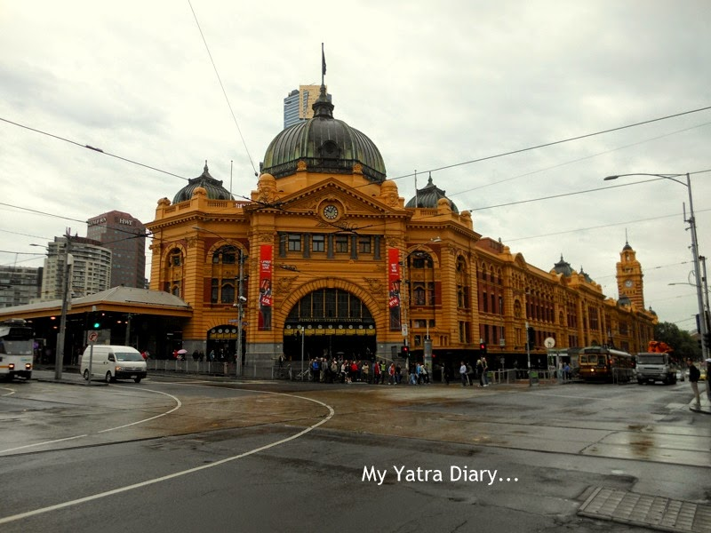 View of Flinders street station, Melbourne Australia