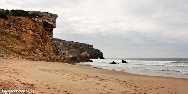 Playa nudista Zavial (Algarve, Portugal)