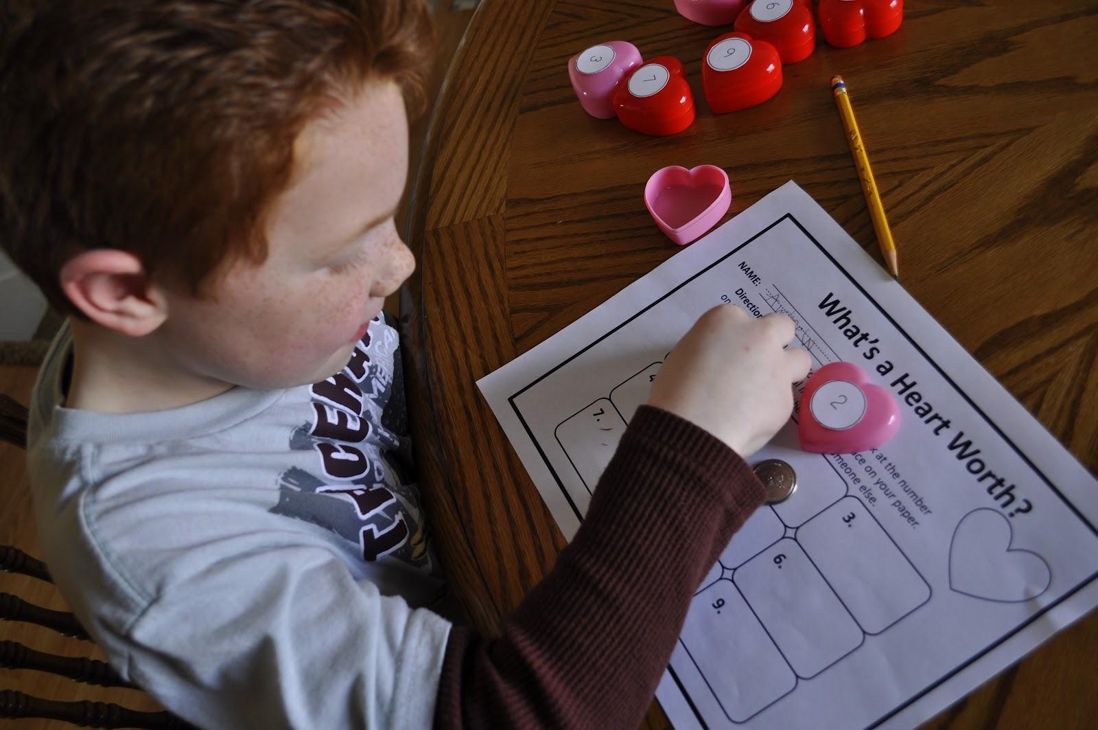 Valentine S Activities How Much Is A Heart Worth Broken Heart Alphabet Matchching Game Heart