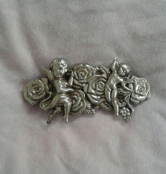 Vintage pin | cherubs, vintage, angel, jewelry, romantic, feminine | via @dollymelancholy | Allegory of Vanity