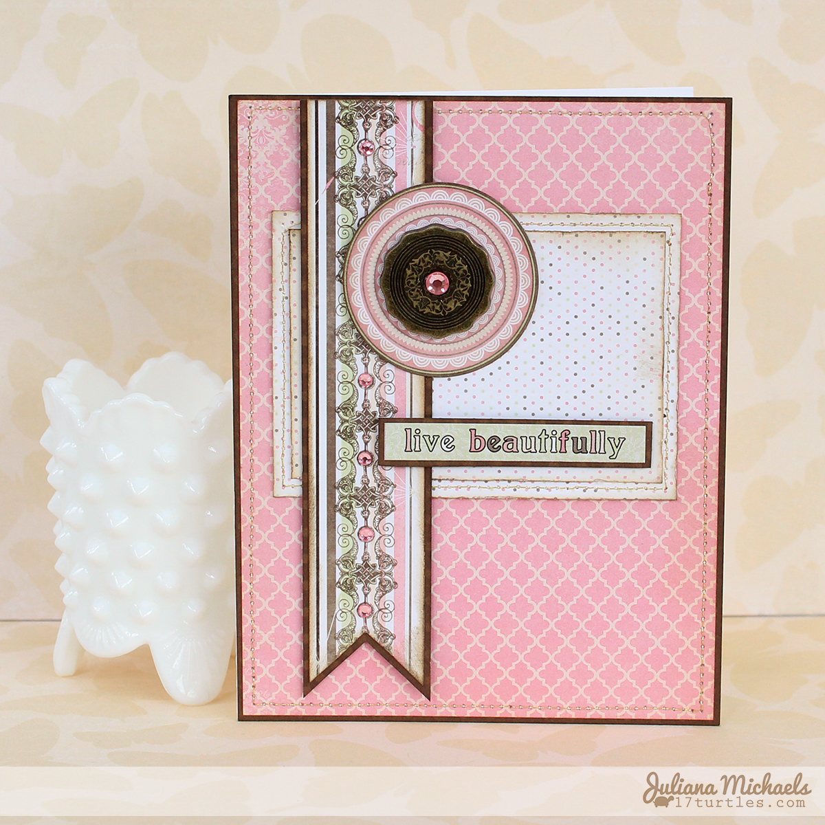 Live Beatifully Card by Juliana Michaels for BoBunny #bobunny #primrose