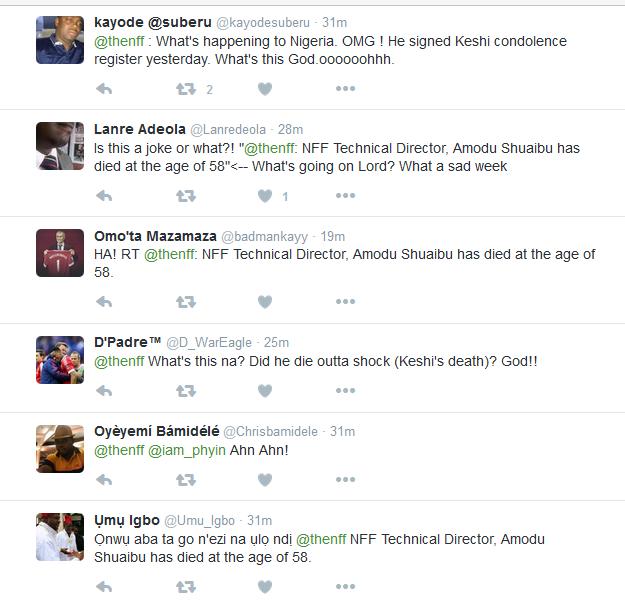 Untitled Nigerians React To Amodu Shuaibu's Death Sport