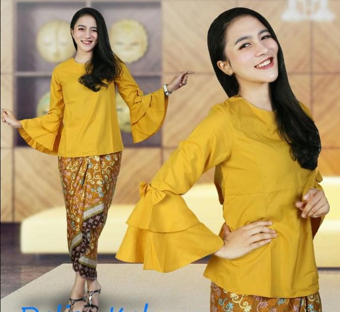 27 Model Kebaya Lengan Terompet Modern Model Baju Muslim Terbaru 2019