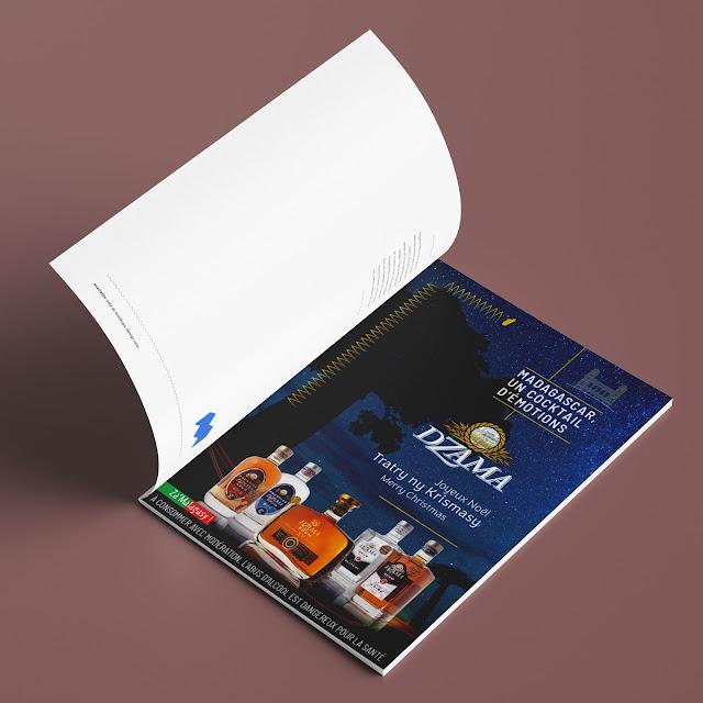 publicité rhum dzama dans Madagascar Magazine Noël