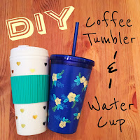 diy coffee tumbler, diy water cup, diy tumbler, diy water bottle, lauren banawa