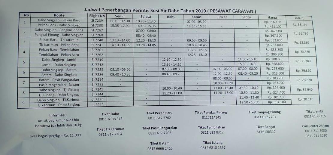 Maskapai Penerbangan Susi Air Di Dabo Singkep Kembali Aktif Dengan 9 Rute Penerbangan Info Kepri