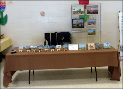 Earth Day,paintings,miniature art,tiny paintings,art show