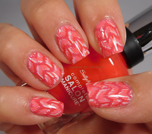 Sally Hansen Get Juiced and Kook a Mango stamped with UberChic Beauty 17-02
